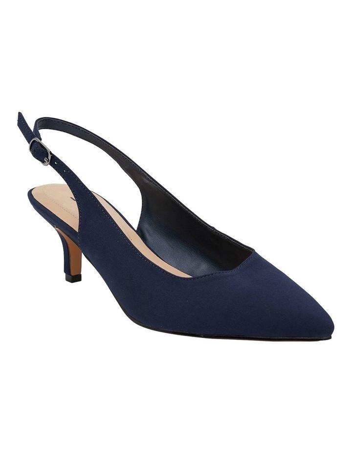 Nina Navy Fabric Heeled Shoes image 2