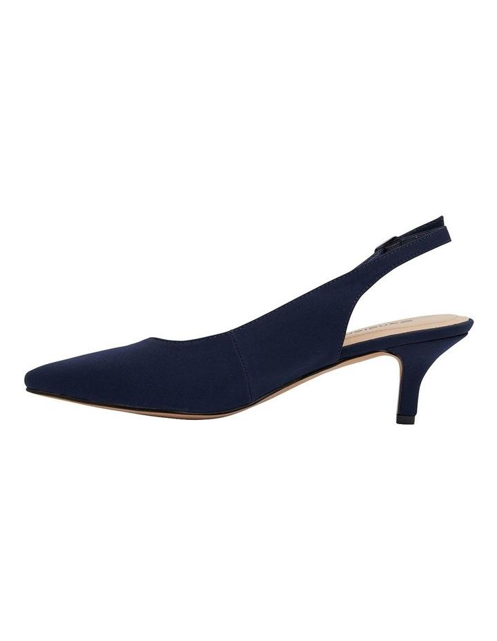 Nina Navy Fabric Heeled Shoes image 3