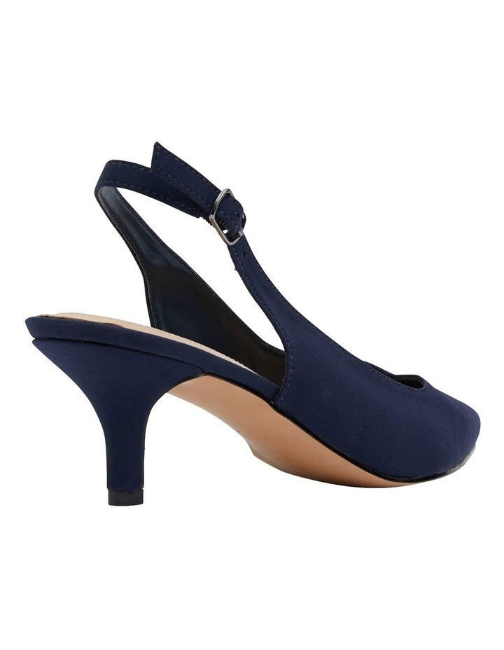 Nina Navy Fabric Heeled Shoes image 4