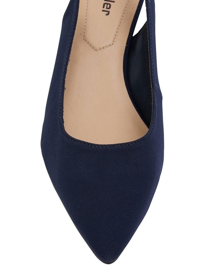 Nina Navy Fabric Heeled Shoes image 6