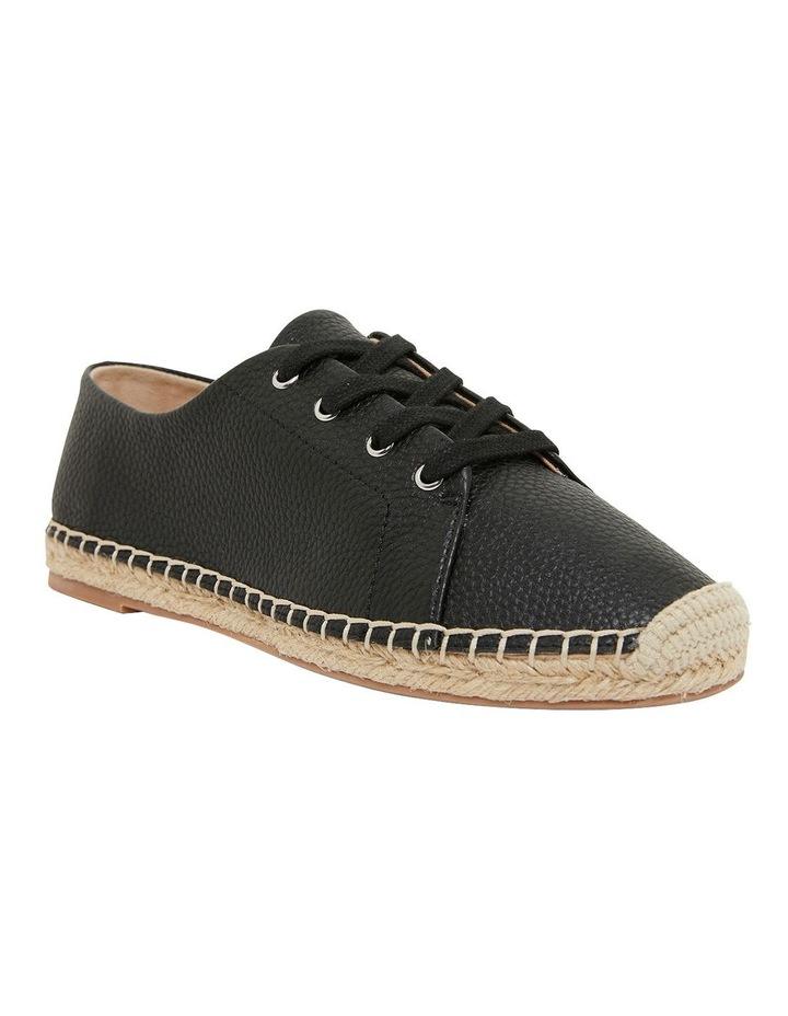 Bayside Black Smooth Flat Shoes image 2