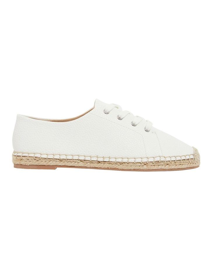Bayside White Smooth Flat Shoes image 1