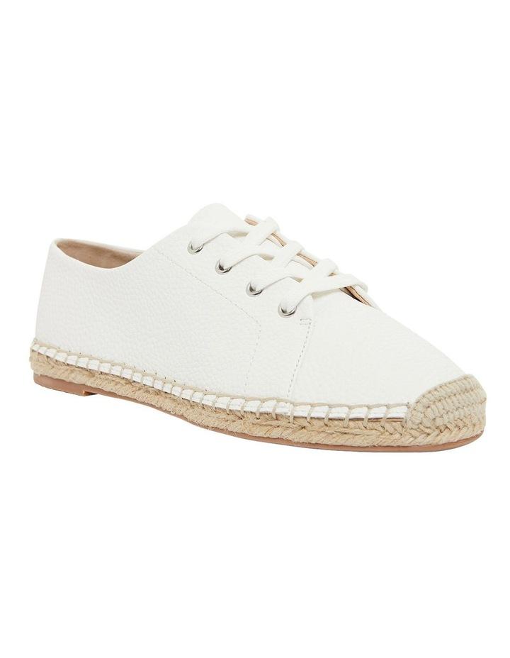 Bayside White Smooth Flat Shoes image 2