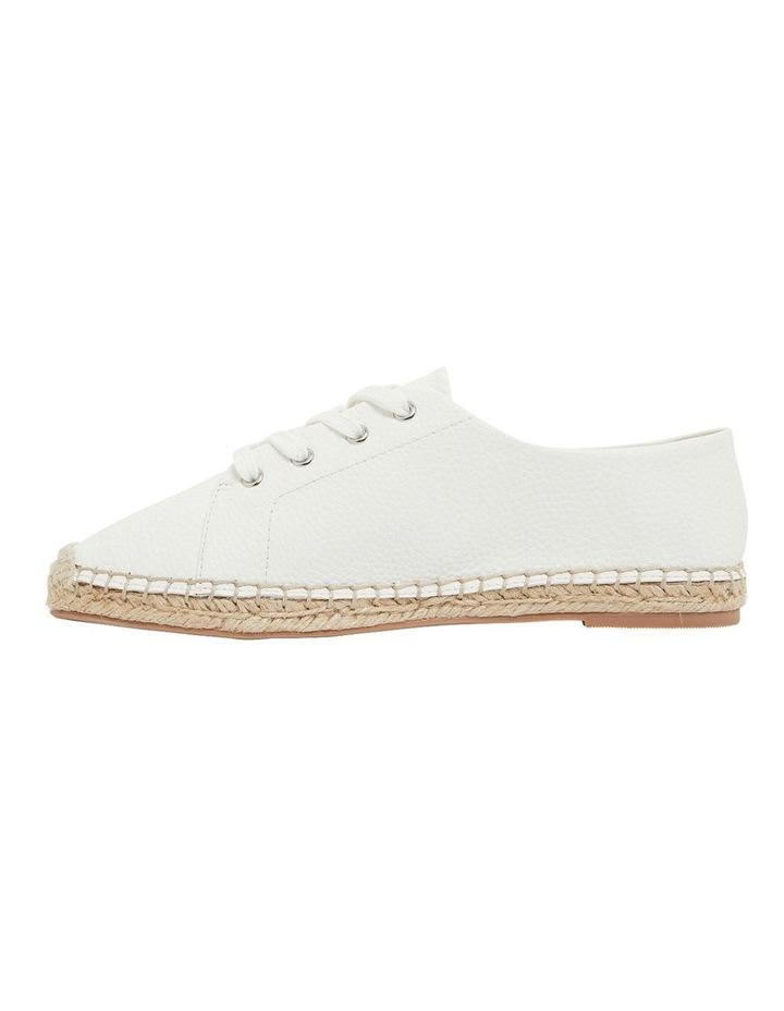 Bayside White Smooth Flat Shoes image 3