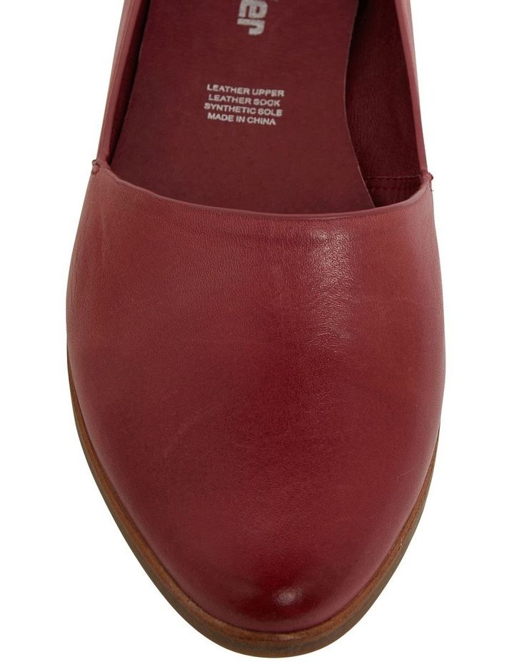 Rachael Red Glove Flat Shoes image 7