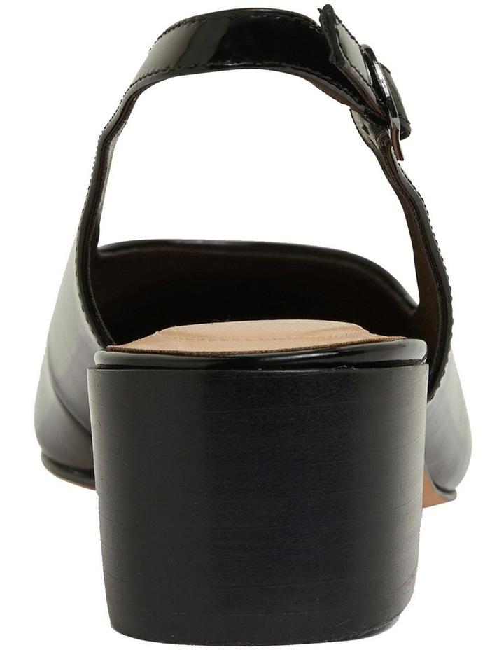 Dena Black Patent Heeled Shoes image 5