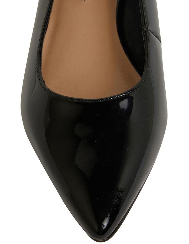Dena Black Patent Heeled Shoes image 6