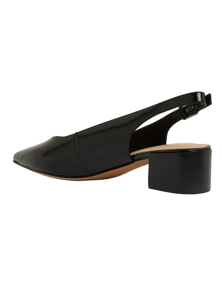 Dena Black Patent Heeled Shoes image 7