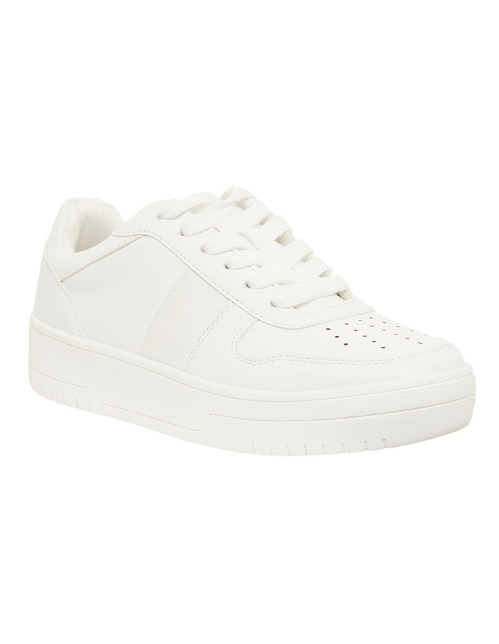 Frantic White Smooth Sneakers image 2