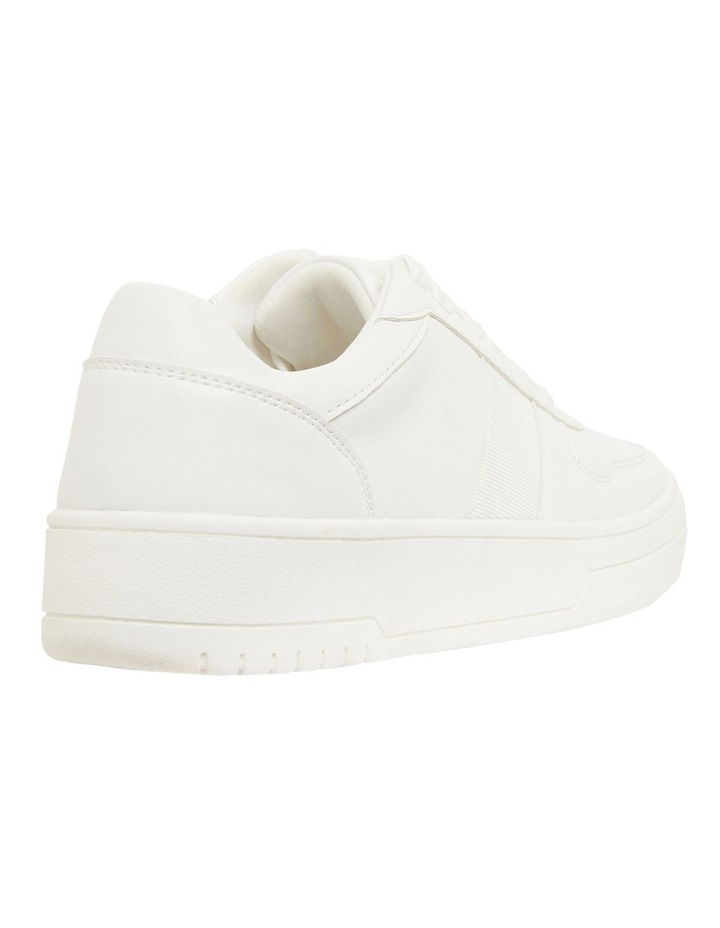 Frantic White Smooth Sneakers image 4