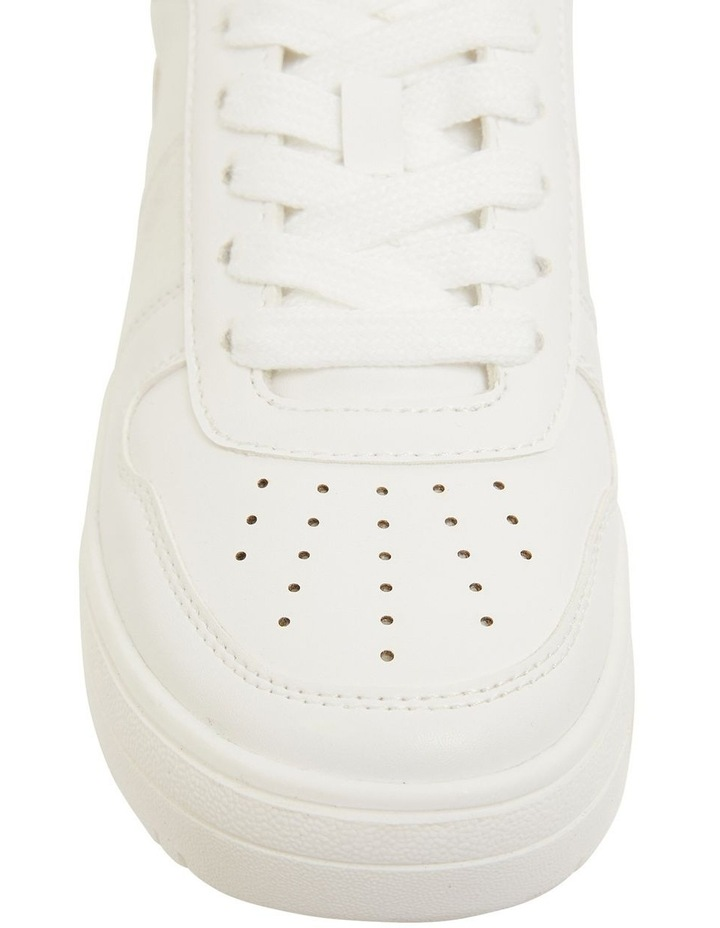 Frantic White Smooth Sneakers image 5
