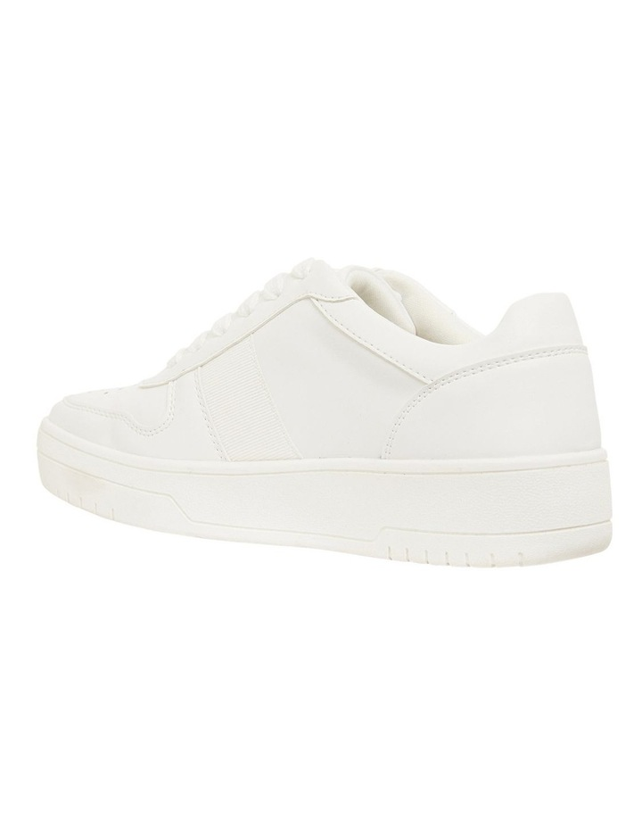Frantic White Smooth Sneakers image 6