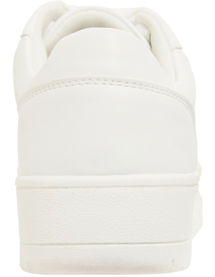 Frantic White Smooth Sneakers image 7