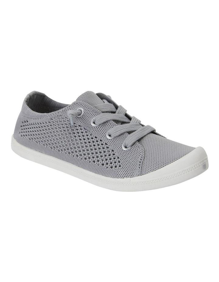 Lock Grey Knit Sneakers image 2