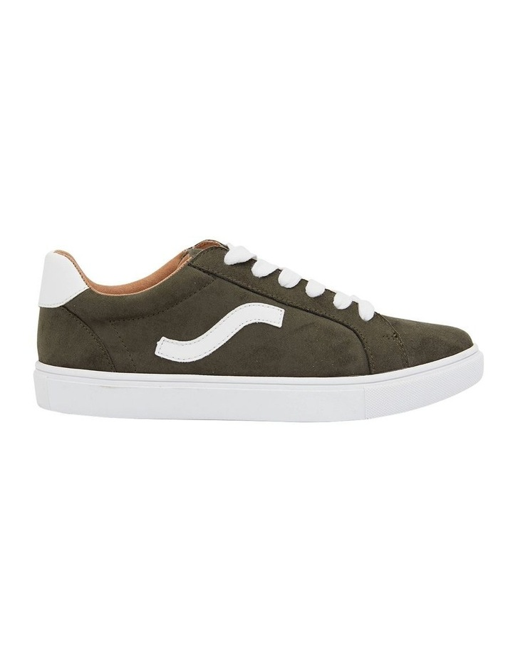 Swerve Khaki Micro Suede Sneakers image 1