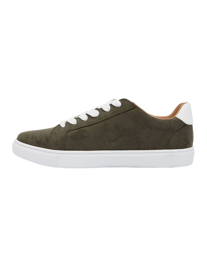 Swerve Khaki Micro Suede Sneakers image 3