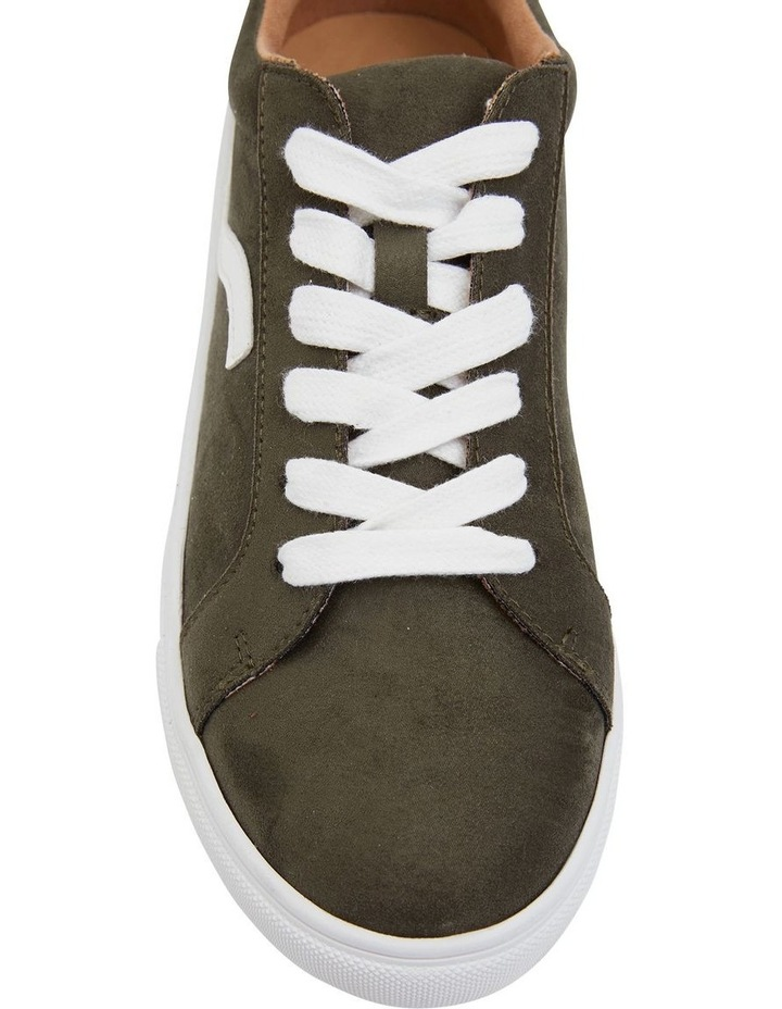 Swerve Khaki Micro Suede Sneakers image 4