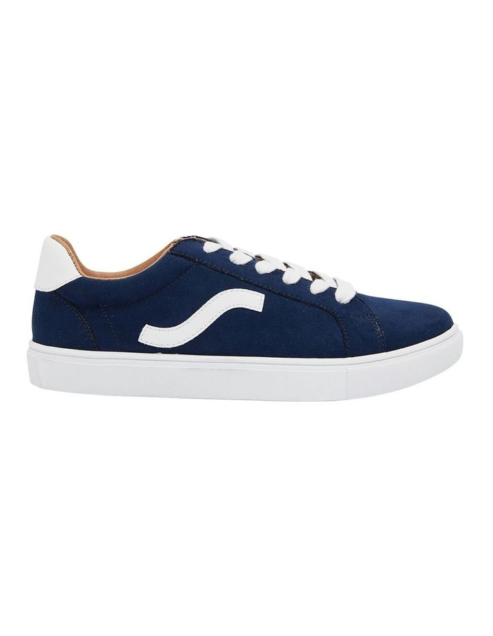 Swerve Navy Micro Suede Sneakers image 1