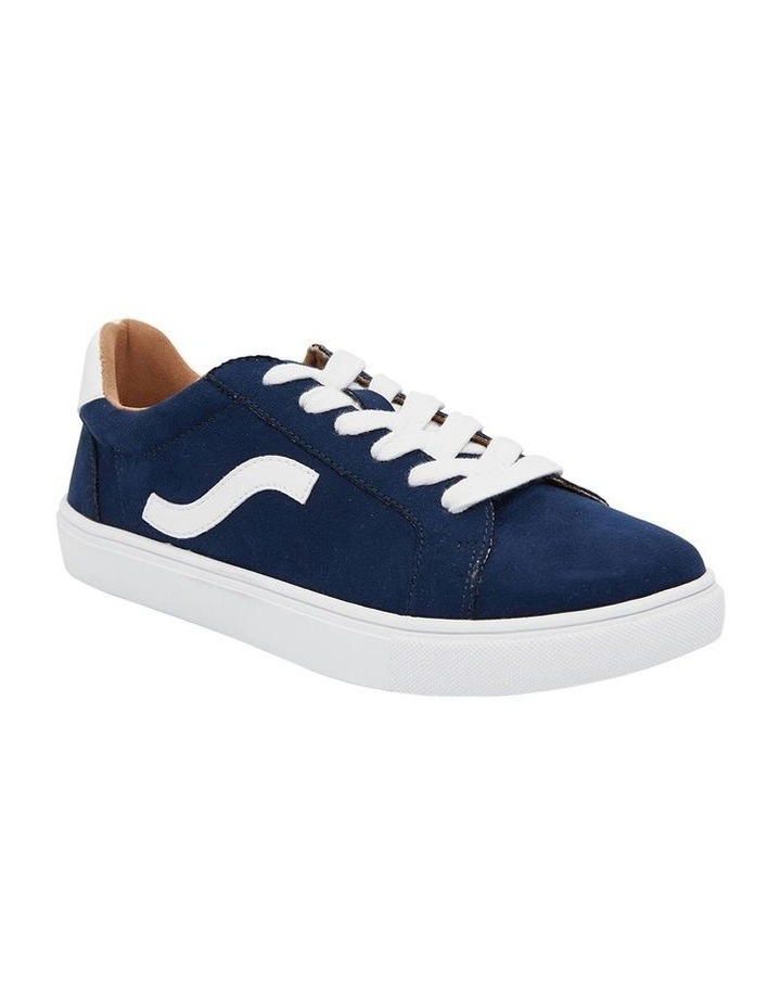Swerve Navy Micro Suede Sneakers image 2