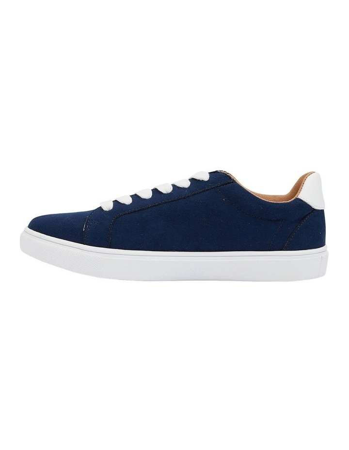 Swerve Navy Micro Suede Sneakers image 3