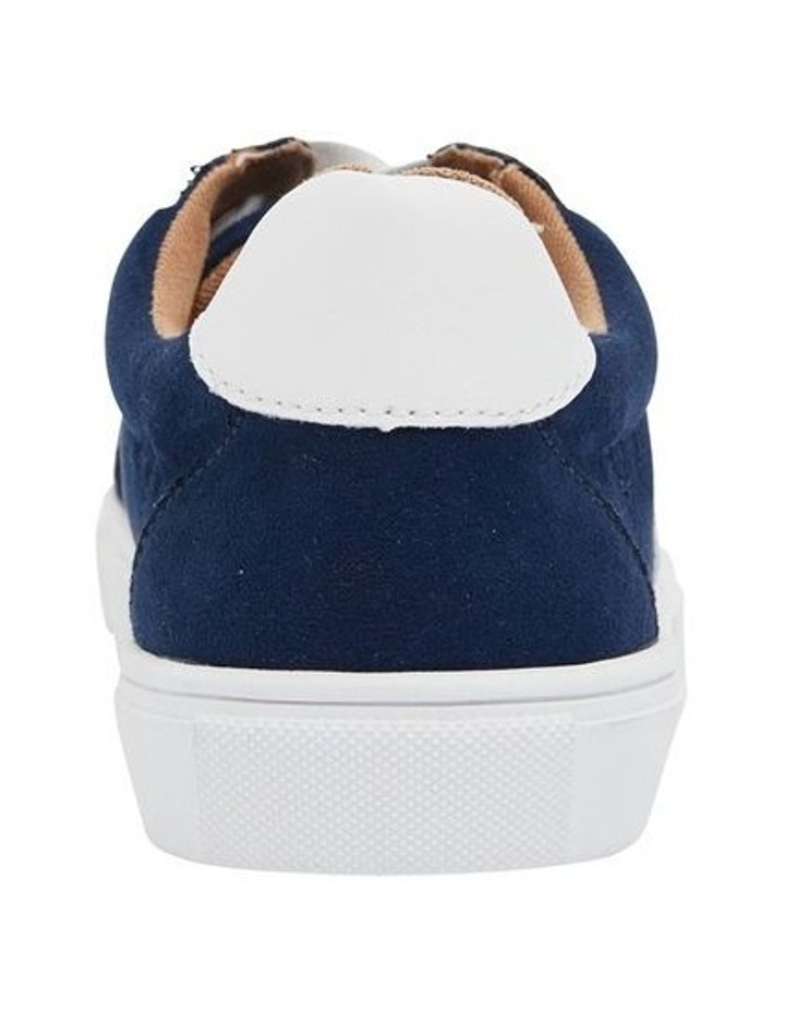 Swerve Navy Micro Suede Sneakers image 4