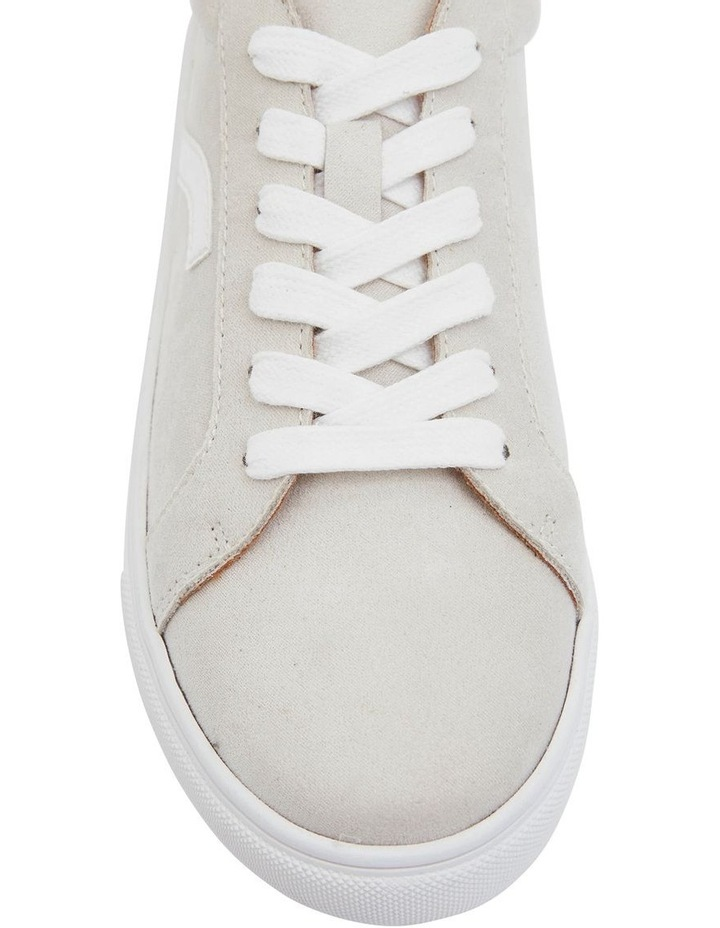 Swerve Taupe Micro Suede Sneakers image 6