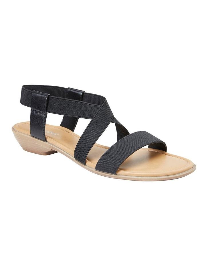 Saratoga Black Elastic Sandals image 2