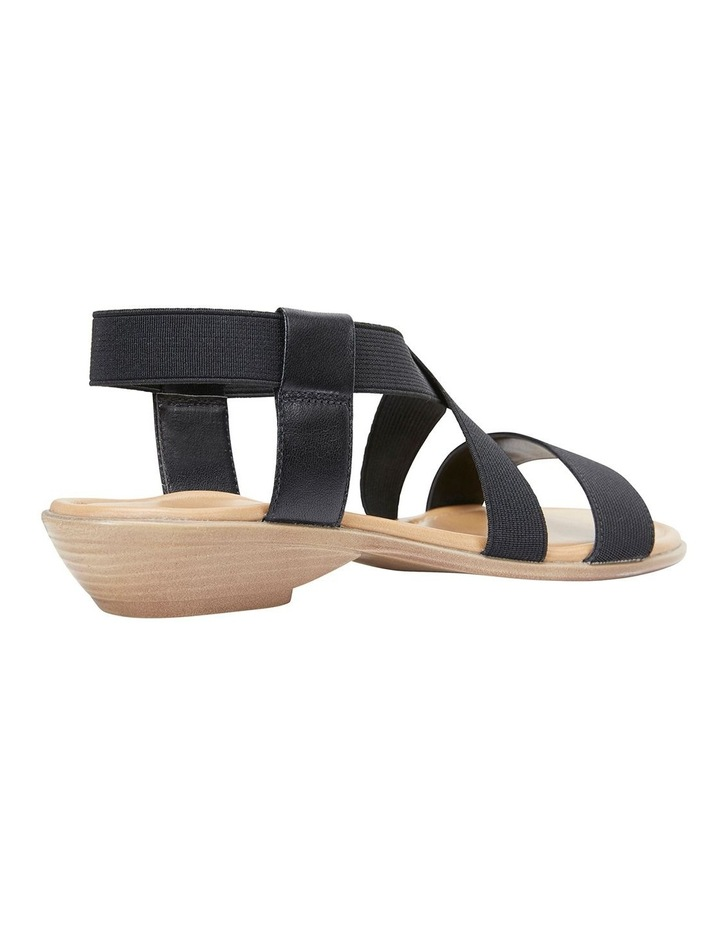 Saratoga Black Elastic Sandals image 3