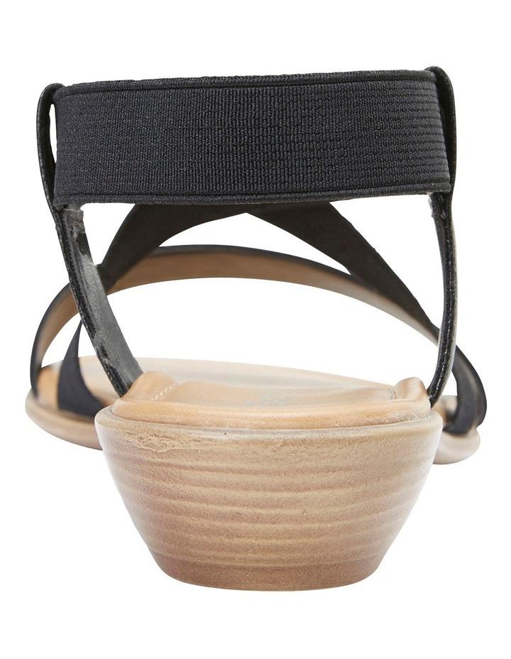 Saratoga Black Elastic Sandals image 5
