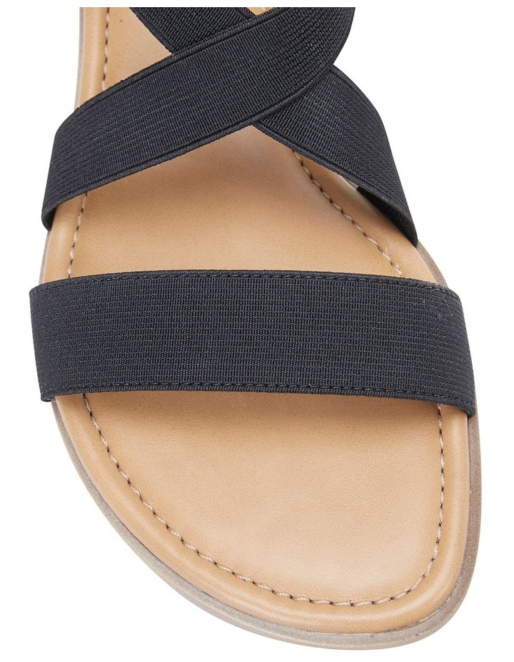 Saratoga Black Elastic Sandals image 6