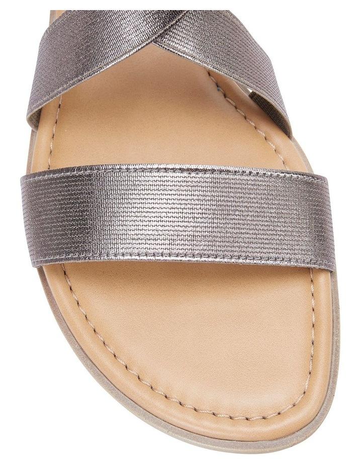 Saratoga Pewter Elastic Sandals image 5