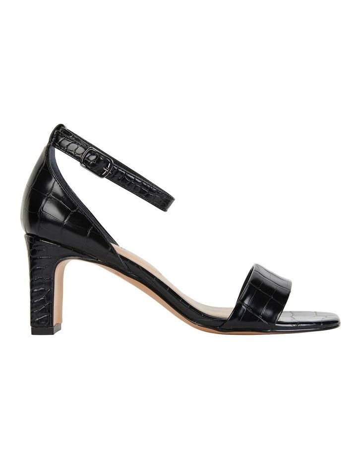 Harper Black Croc Sandals image 1