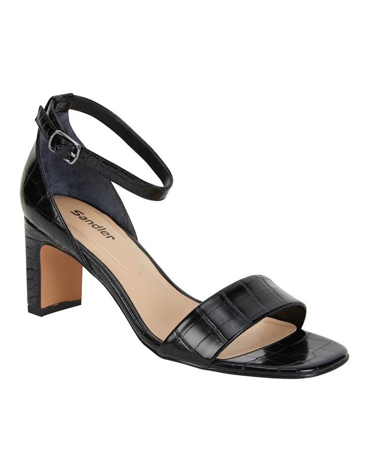 Harper Black Croc Sandals image 2