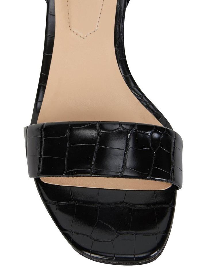 Harper Black Croc Sandals image 6