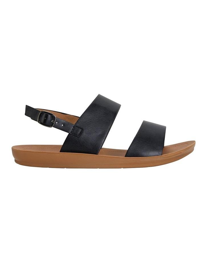 Ginger Black Smooth Sandals image 1