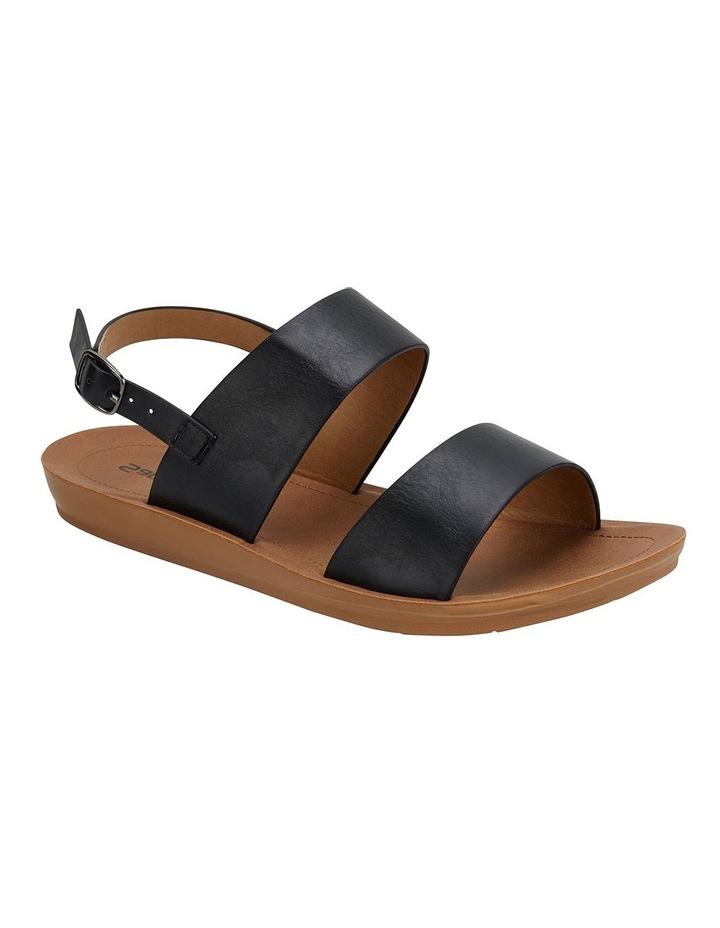 Ginger Black Smooth Sandals image 2