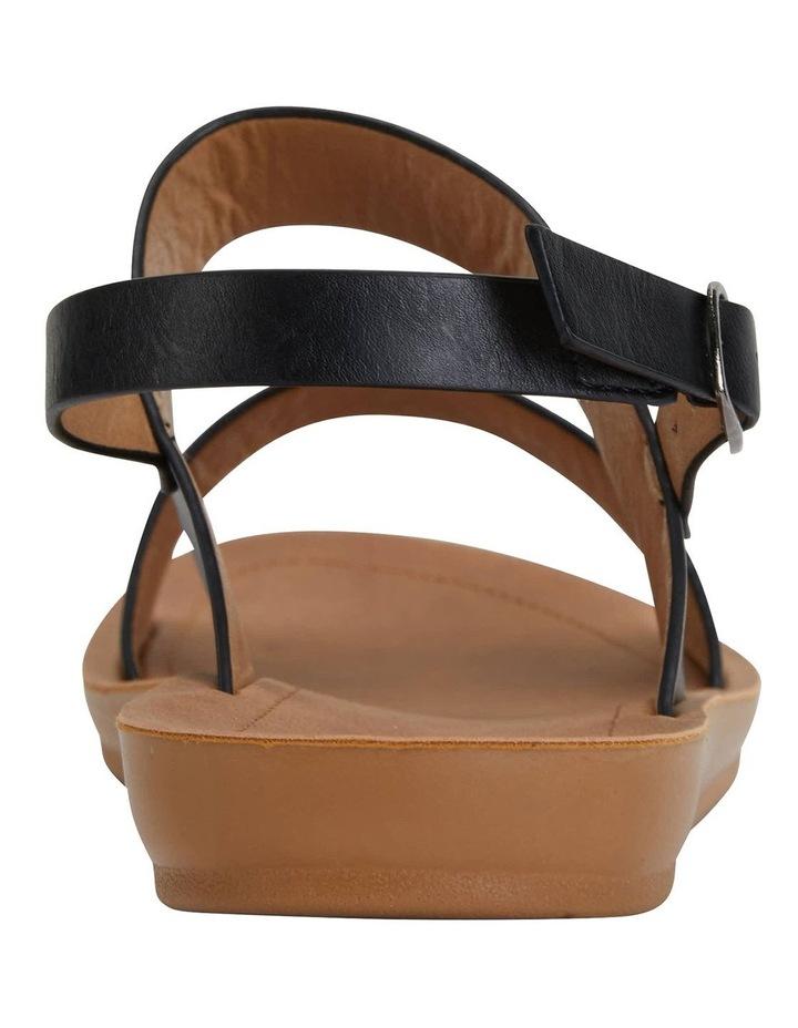 Ginger Black Smooth Sandals image 5