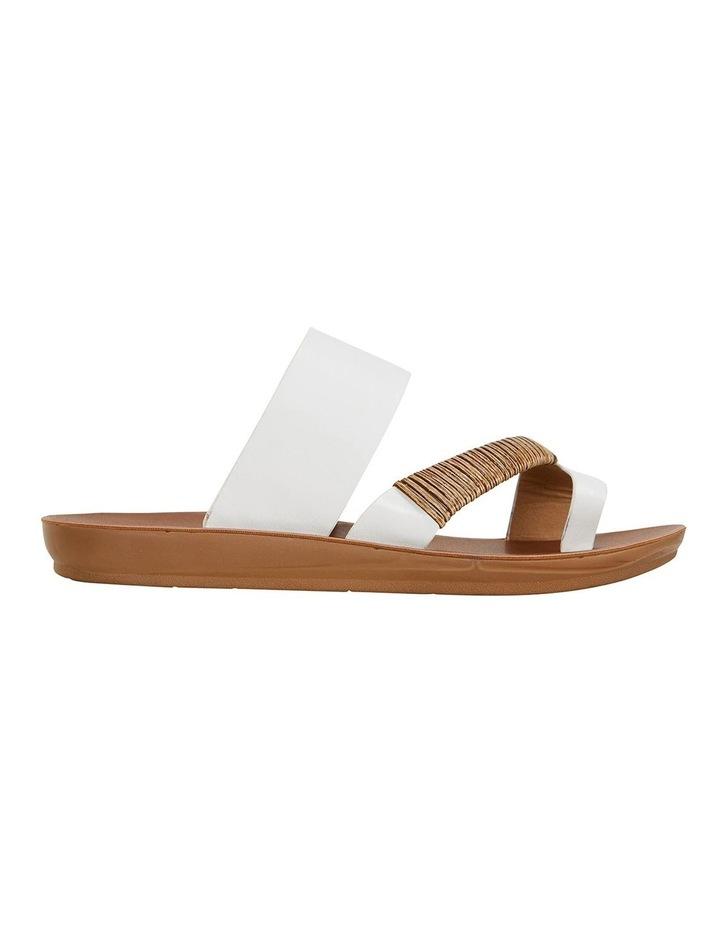 Gidget White Smooth Sandals image 1