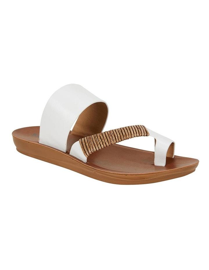 Gidget White Smooth Sandals image 2