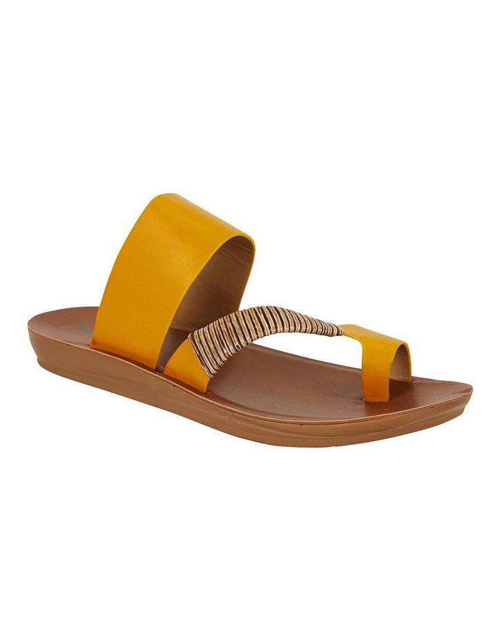 Gidget Mustard Smooth Sandals image 2