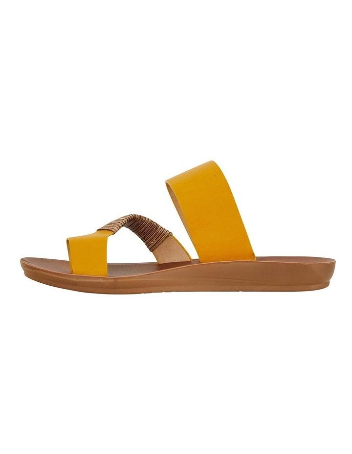 Gidget Mustard Smooth Sandals image 3