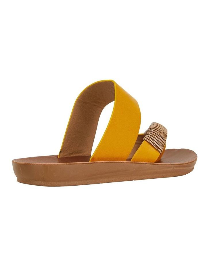 Gidget Mustard Smooth Sandals image 4