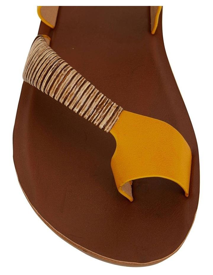 Gidget Mustard Smooth Sandals image 6