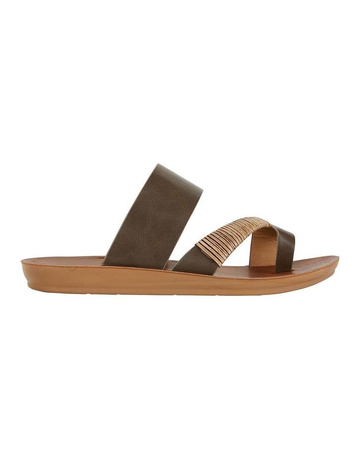 Gidget Khaki Smooth Sandals image 1