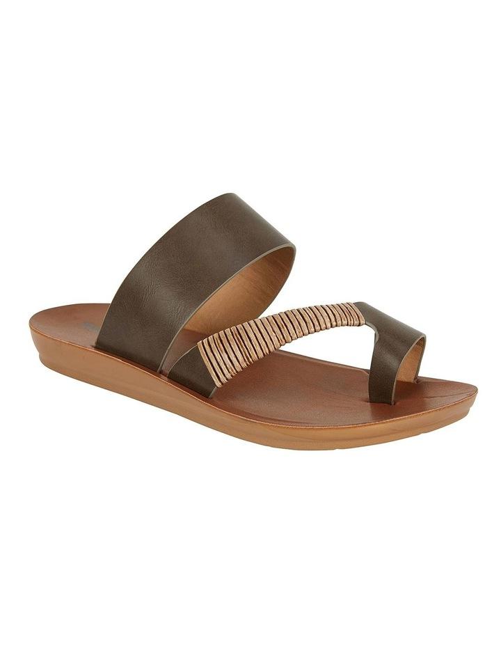 Gidget Khaki Smooth Sandals image 2