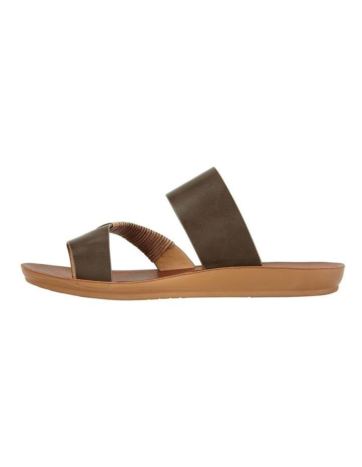 Gidget Khaki Smooth Sandals image 3