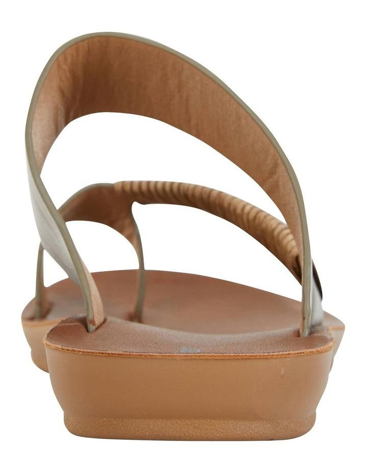 Gidget Khaki Smooth Sandals image 5