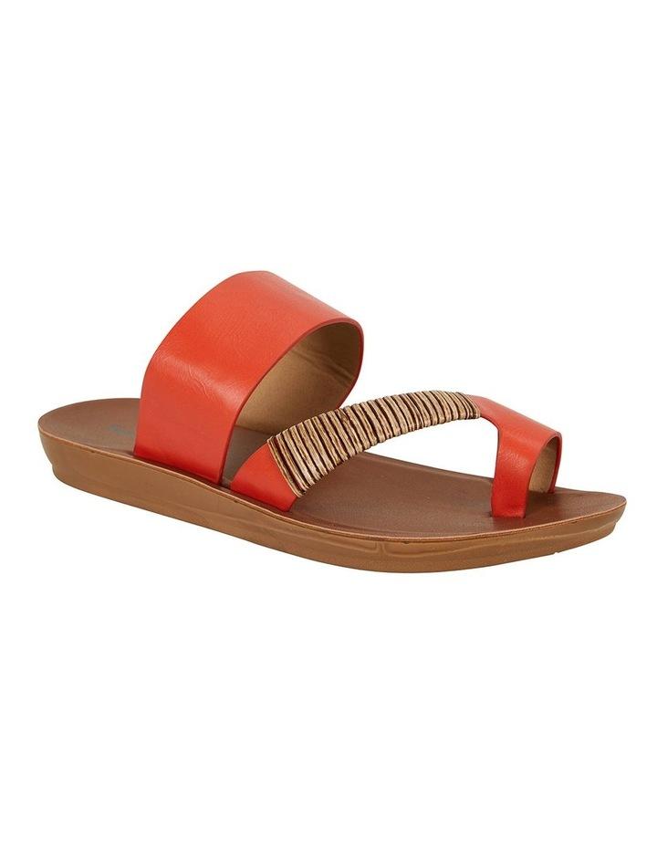 Gidget Tangerine Smooth Sandals image 1
