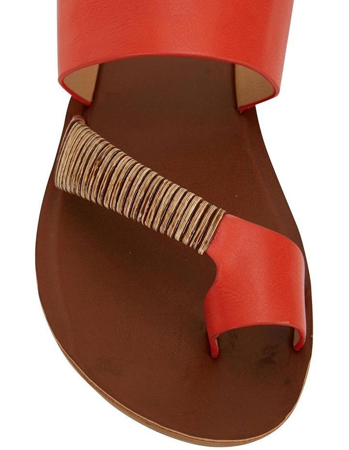Gidget Tangerine Smooth Sandals image 5