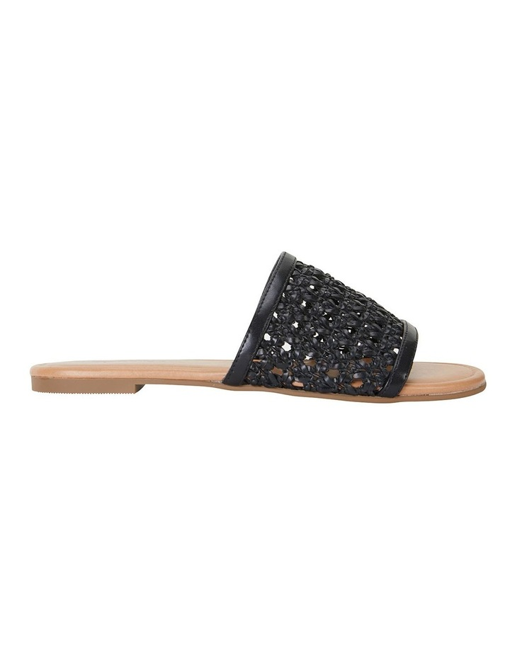 Ditto Black Weave Sandals image 1